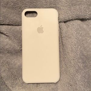 white silicone apple phone case